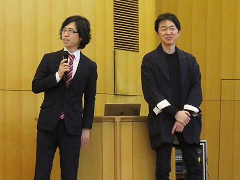 北陸先端科学技術大学院大学の増田貴史講師(左)と山梨県立大学の杉山歩准教授