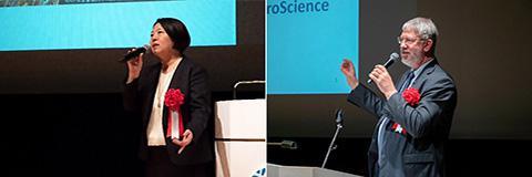 基調講演に登壇した阿部玲子さん(左)、マイケル・マトローズさん(右)