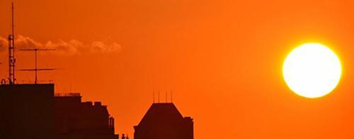 写真 11月6日から18日までドイツ・ボンで開かれた「気候変動枠組み条約第23回締約国会議(COP23)」事務局が会議開催に合わせて関連サイトに公開した気温上昇のイメージ画像(COP23事務局提供)