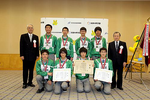 優勝した千葉県代表・渋谷教育学園幕張高校の出場者