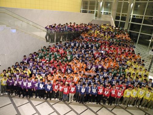 「第4回科学の甲子園全国大会」の開会式に参加した代表校の生徒たち=3月20日、つくば国際会議場