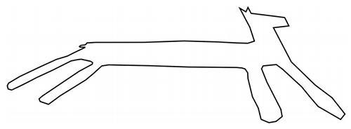今回発見されたリャマ地上絵のなかで最大の第3グループの線画