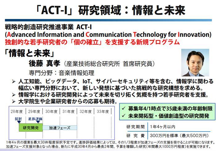 図 ACT-Iプログラムの仕組み(JST作成)