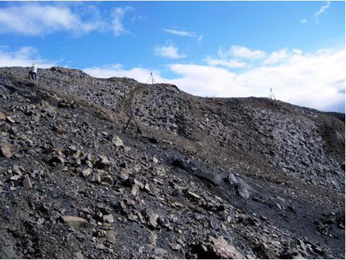 デナリ国立公園の恐竜足跡化石産地
