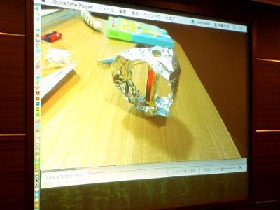 写真3 モーターの原理の実験装置