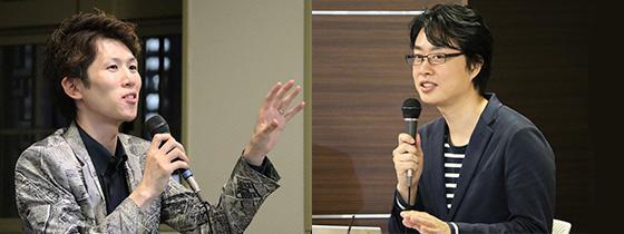 講師の森勢将雅さん(左)とファシリテーターの小田恭央さん(右)。