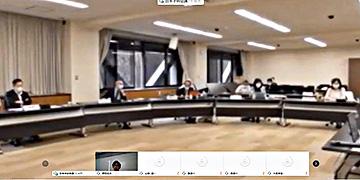 一部の参加者をオンラインで招いた学術フォーラム(中継画面から)