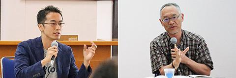 scheme vergeの須田さん(左)。名古屋大学未来社会創造機構の手嶋さん(右)