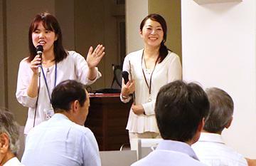 ファシリテーターの日下葵さん(左)と濱田志穂さん(右)