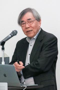 基調講演する竹市雅俊さん