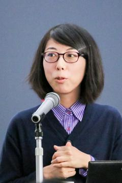 天体磁場の研究をしていると話す堀久美子さん