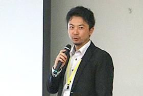 「基礎研究をどのように事業化するか」をテーマにゲストとして講演をした井上浄氏