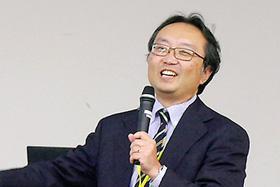 「Open Innovation Hub」での取り組みとその経験から得た気づきを語る小島健嗣氏