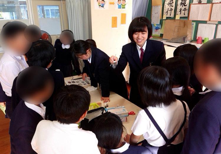 地元の小学校の文化祭でも ※画像提供:天草高校