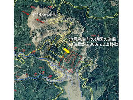 岩手・宮城内陸地震で道路300メートルずれる