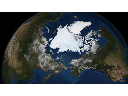 北極海の氷面積縮小 観測史上2番目