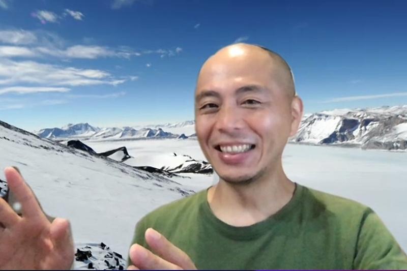 チバニアン誕生の立役者となった菅沼悠介さん ※オンライン取材時の画面から