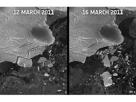 大震災の大津波が南極大陸の棚氷を破壊