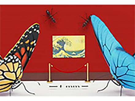 インキ使わず色彩鮮やかに微小印刷 京大グループが動物の美しい発色構造を人工的に作成