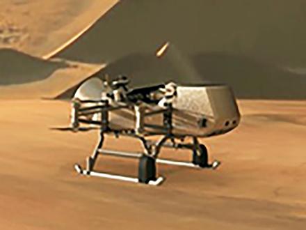 大気がある土星の衛星タイタンでドローンを飛ばして探査 NASAがユニークな計画