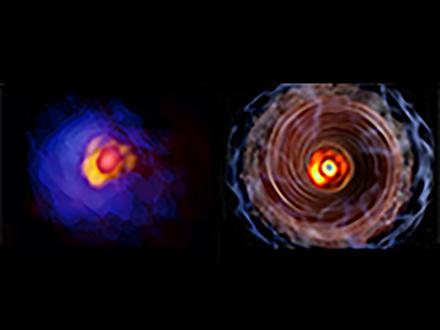 巨大な星の赤ちゃんを取り巻くガスの姿を鮮明に捉えた 南米のアルマ望遠鏡使い山口大など