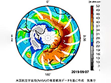 南極のオゾンホールが半減! 上空の気温の異常上昇が原因と気象庁