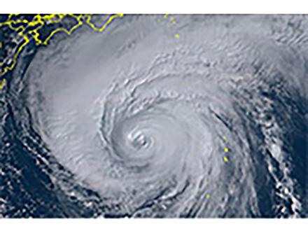 気象庁が「狩野川台風」に匹敵と厳重警戒呼びかけ 気象衛星「ひまわり」が台風19号捉える