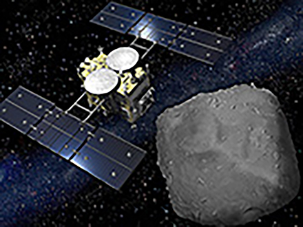 はやぶさ2が地球目指し、小惑星りゅうぐう上空を出発