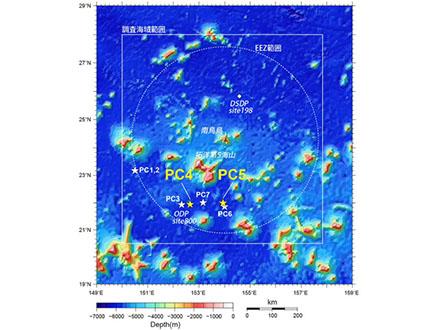 南鳥島周辺に高濃度レアアース埋蔵