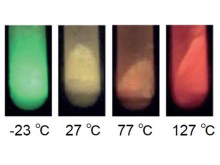 """温度によって色が変わる""""カメレオン発光体"""""""