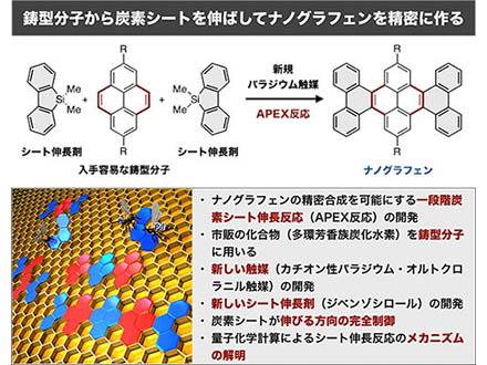新触媒と伸長剤でナノグラフェンを合成
