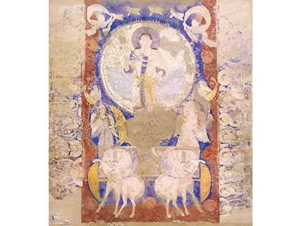 G7伊勢志摩サミットでバーミヤン東大仏天井壁画のクローン文化財展示