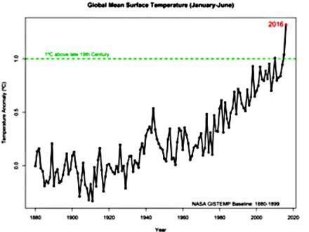 今年前半の平均気温過去最高 一番暑い年の可能性とNASA