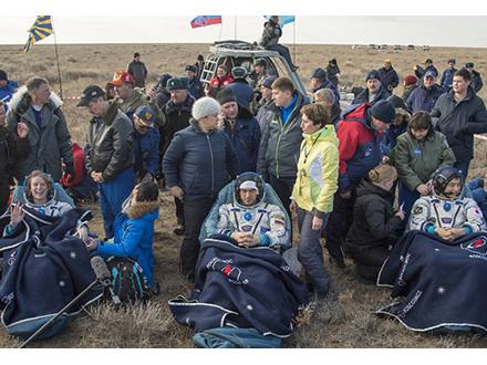金井さん、ソユーズで宇宙ステーションへ 5カ月半滞在