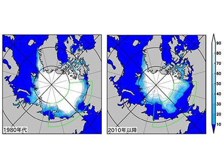 北極海の海氷は、春先のわずかな緩みが夏の激減を引き起こす