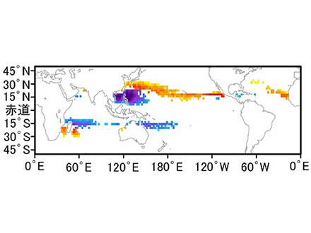 雲が放射する赤外線に注目したら、台風の発達強度が正確に予測できるようになった