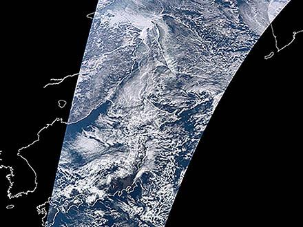 「しきさい」による日本上空初画像を公開 JAXA