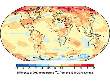 過去5年間世界は観測史上最も暑いとWMO警告 気候行動サミットで77カ国が2050年排出ゼロ表明