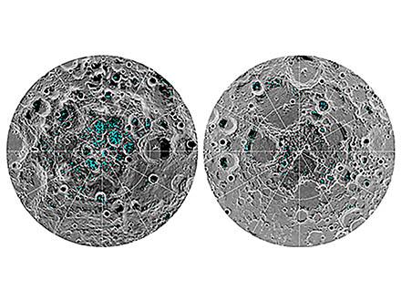 月の南極と北極には確かに氷が存在する NASAが決定的証拠を観測、と発表