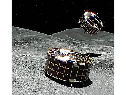 「はやぶさ2」が「りゅうぐう」上空で放出した小型探査ローバが地表面の着陸に成功 ローバは世界で初めて小惑星表面を撮影