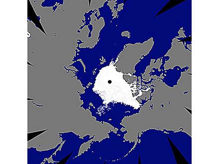 北極海の海氷面積は今年、もっとも遅く最小になった