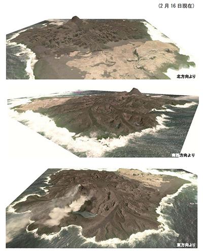 図. 西之島周辺の立体図