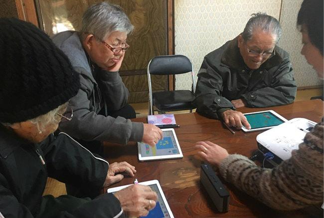 「孫には負けない」を合言葉に行われたプログラミング講座 画像提供:肝付町