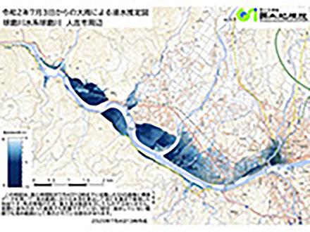 熊本豪雨の浸水推定図や空中写真 国土地理院が公開