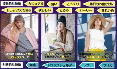 ファッション用語には、形状を示す語と見た目の印象を表す語がある(川村教授提供)