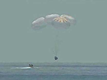 米有人宇宙船が帰還 9年ぶり、ロシア依存に終止符