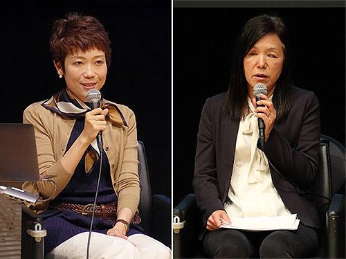 タカハシショウコさん(左)と浅川智恵子さん