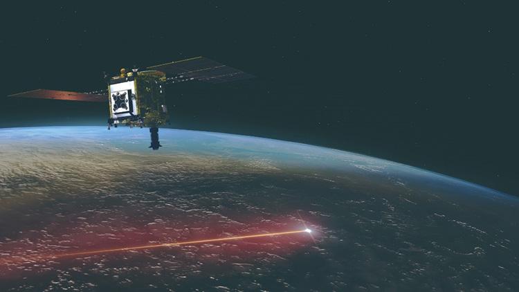 地球に帰還し、カプセルを分離したはやぶさ2の想像図(JAXA提供)