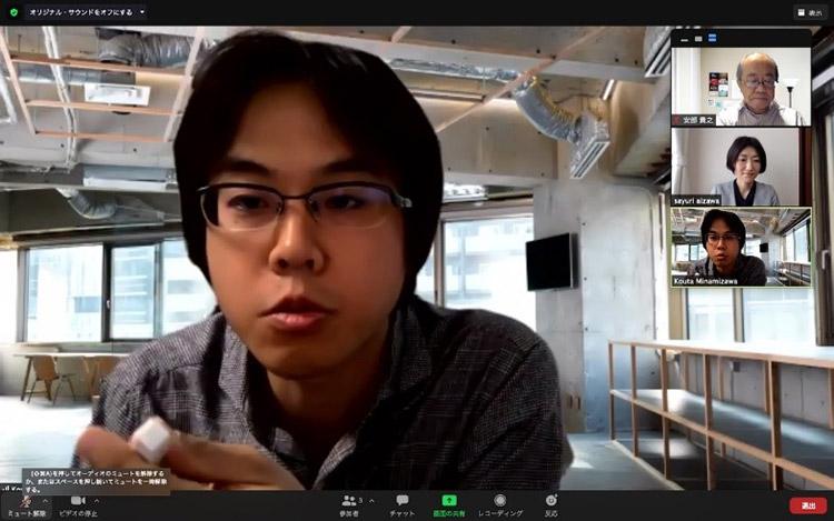 南澤さんとはリアルとオンラインで相談を重ね、テクタイル・ツールキットの使用法を模索した