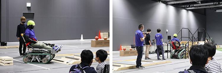 2日目の実演では、マシンの変化に観客が驚きの声をあげていた